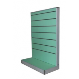Espositore a parete in vari colori con pannelli dogati cm. 91x45x134h
