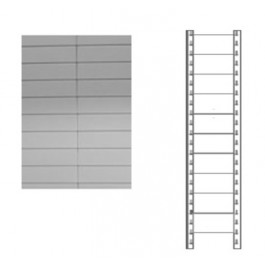 Schiena in lamiera a 10 doghe per scaffale magazzino cm. 91x200h