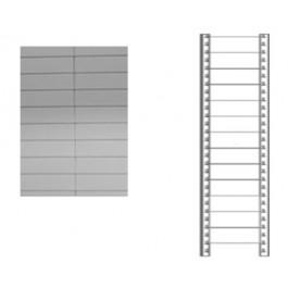 Schiena in lamiera a 13 doghe per scaffale magazzino cm. 120x250h