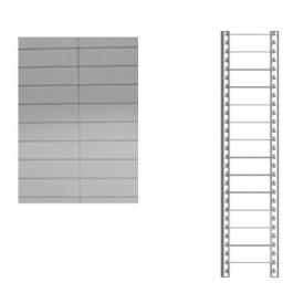 Schiena in lamiera a 13 doghe per scaffale magazzino cm. 91x250h