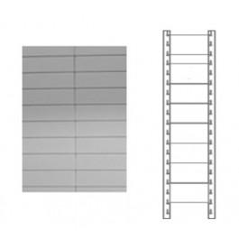 Schiena in lamiera a 9 doghe per scaffale magazzino cm. 100x180h