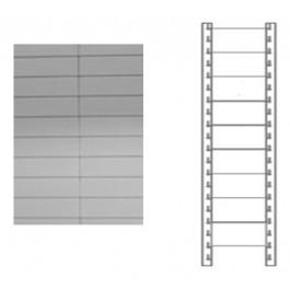 Schiena in lamiera a 9 doghe per scaffale magazzino cm. 120x180h
