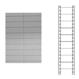 Schiena in lamiera a 9 doghe per scaffale magazzino cm. 80x180h