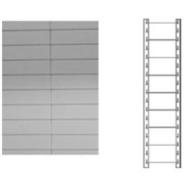 Schiena in lamiera a 8 doghe per scaffale magazzino cm. 80x150h