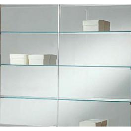 Sostituzione doppio schienale trasparente con schienale a specchio o legno