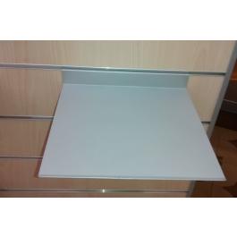 Pianetto in metallo per pannello dogato cm. 30x25 color alluminio