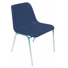 Sedia impilabile per sala attesa e per arredo mensa in colore blu IN PRONTA CONSEGNA