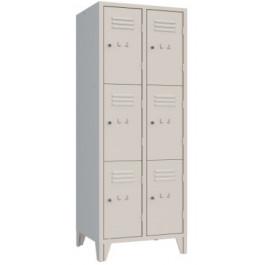 Casellario armadio a caselle a 6 ante metalliche monoblocco cm. 61,5x50x180h