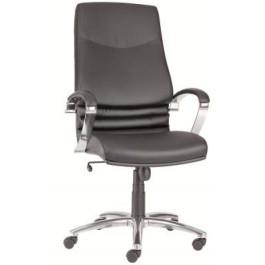 Poltrona seduta ufficio casa su ruote con schienale alto