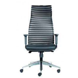 Poltrona con ruote e schienale alto per ufficio operativo direzionale ergonomica