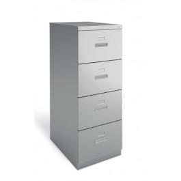 Classificatore a 4 cassetti in metallo per ufficio cm. 49,5x65,2x136h