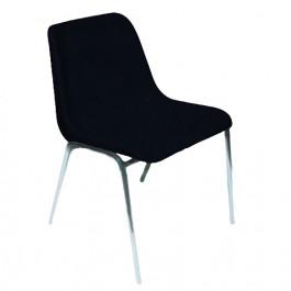 Sedia impilabile per sala attesa e per arredo mensa in colore nero IN PRONTA CONSEGNA