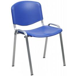 Sedia impilabile per sala d'attesa con struttura in acciaio grigio