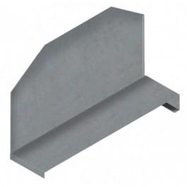 Separatore zincato per piano scaffalatura di cm. 50