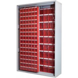 Armadio Madia in metallo con cassettiere per minuteria cm. 127x52x195h