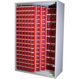 Armadio Madia in metallo verniciato con cassettiere per minuterie cm. 127x60,5x196,5h