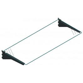 Sostituzione piano con mensole in metallo con piano in vetro cm. 97x30