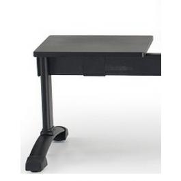 Maggiorazione aggiunta tavolo in melaminico nero TVL1