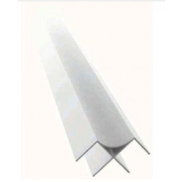Terminale angolare argento cm. 277 per finitura pannello dogato
