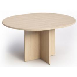 Tavolo ovale per sale riunioni in melaminico con gambe a croce cm. 140x120x73h