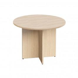 Tavolo riunioni in melaminico con gambe a croce