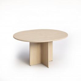 Tavolo ovale per sale riunioni in melaminico con gambe a croce