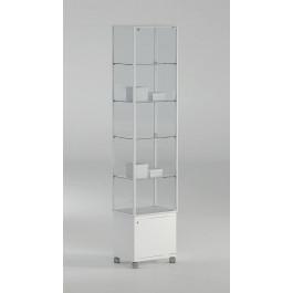 Vetrina con mobile e quattro piani regolabili per esposizione cm. 51x37x217h
