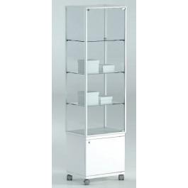 Vetrina con mobiletto e tre piani regolabili per esposizione cm. 51x37x180h