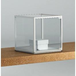 Teca a forma di cubo per esposizioni gioielli cm. 45x45x42h