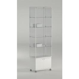 Vetrina espositiva da negozio con mobiletto e quattro piani cm. 71x37x217h