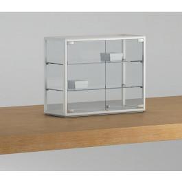 Vetrina espositiva per bancone con due piani regolabili cm. 65x25x50h