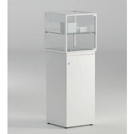 Vetrina espositiva per gioielleria con mobiletto e piano regolabile cm. 45x45x135h