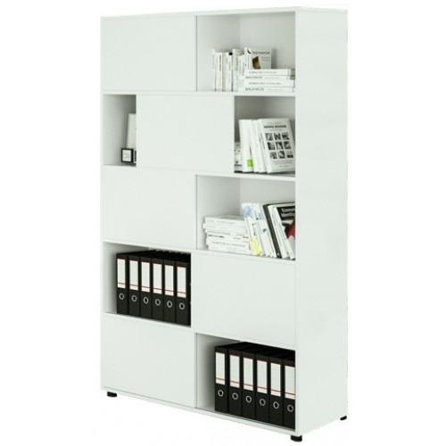 Mobile libreria con ante scorrevoli per casa castellani shop for Mobile ufficio ante scorrevoli