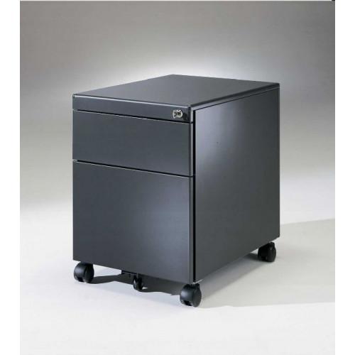 Cassettiera metallica su ruote con 1 cassetto e 1 cassetto - Cassettiere ufficio ...