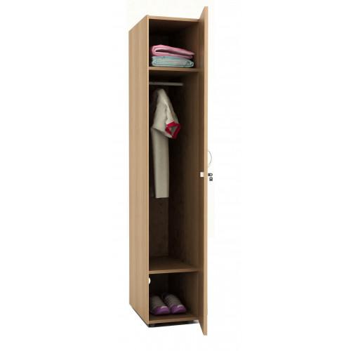 Armadio spogliatoio legno 33x52x185h 1 posto - Castellani Shop