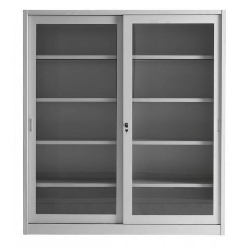 armadio per archiviazione ad ante scorrevoli in vetro cm