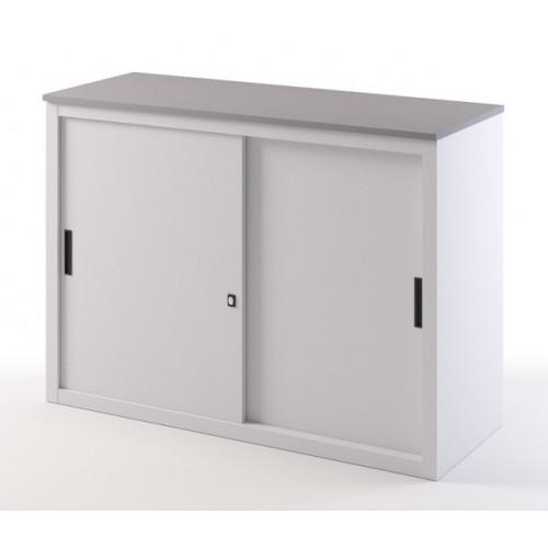 Mobile basso con top in nobilitato verniciato castellani for Mobile basso ufficio