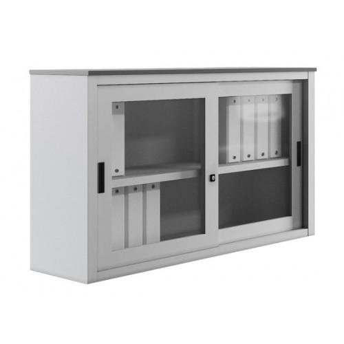 Mobiletto basso in vetro con ante scorrevoli castellani shop for Armadio basso ufficio