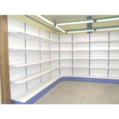 Modulo continuativo angolo per scaffalatura da negozio a for Piani di costruzione del negozio