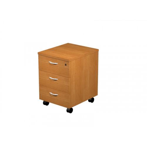 Cassettiera in legno su ruote eco 3 cassetti - Castellani Shop