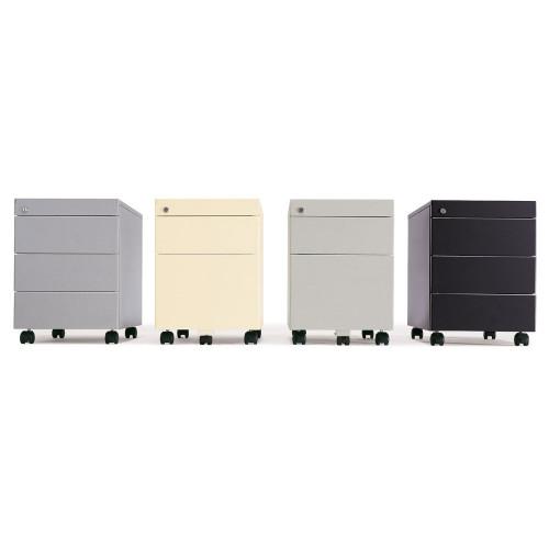 Cassettiere Metalliche Per Ufficio.Cassettiera Metallica Su Ruote A 3 Cassetti Cm 41x58x55 3h