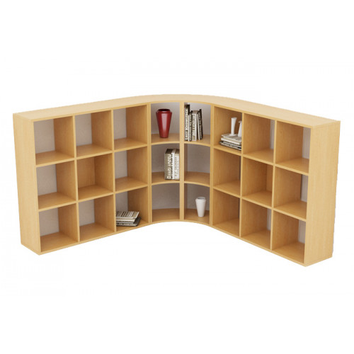 Libreria Angolare.Libreria Angolare A 45 Con Due Ripiani A Giorno Cm 27 4 49 8x60x91h