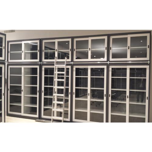 Sopralzo armadio di metallo con ante scorrevoli in vetro e ...