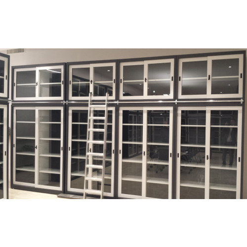 Armadio ufficio da archiviazione con piani e ante in vetro ...