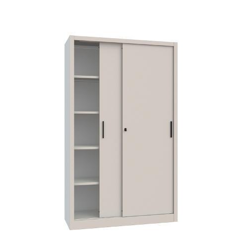 armadio in metallo a piani interni con ante scorrevoli cm