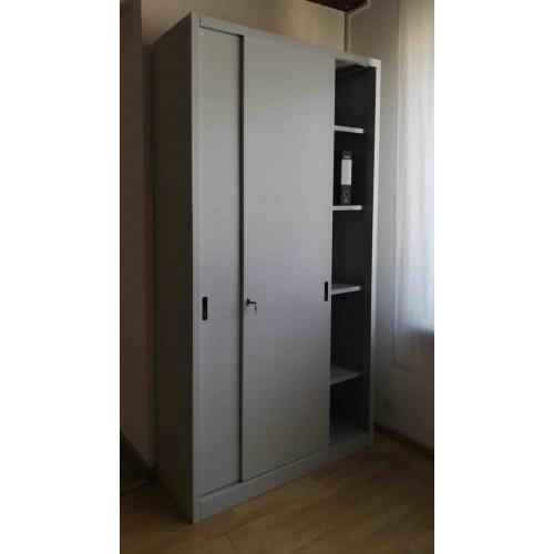 Armadio Metallico Per Ufficio Con Ante In Metallo O Legno Verniciato Cm 180x45x155h Castellani Shop
