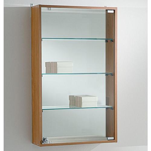 Vetrina espositiva a muro con piani in vetro regolabili cm for Vetrina in vetro