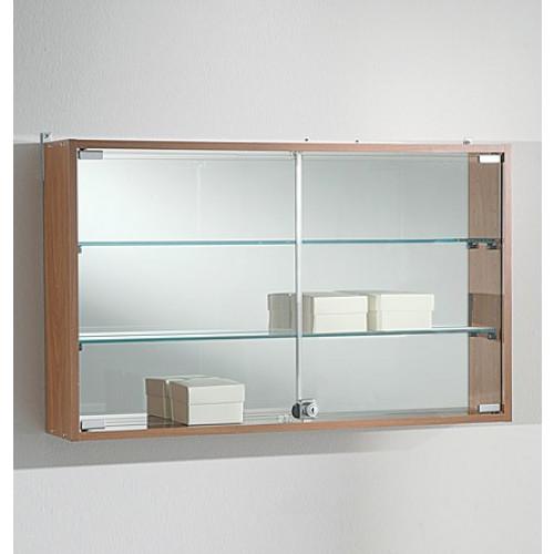 Bacheca vetrina espositiva a muro in legno e vetro cm for Vetrina in vetro