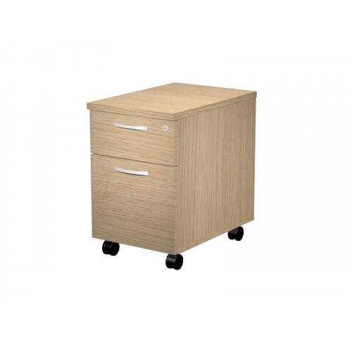 Cassettiera in legno su ruote eco a 3 casset. - Castellani Shop