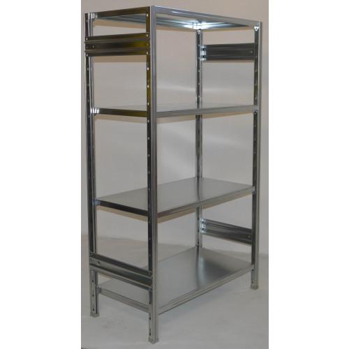 Scaffalature Metalliche Confronta Prezzi.Scaffalatura In Ferro Da Magazzino Zincata Cm 100x40x200h
